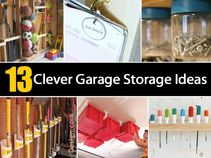13 Clever Garage Storage Ideas Ohsimply Com
