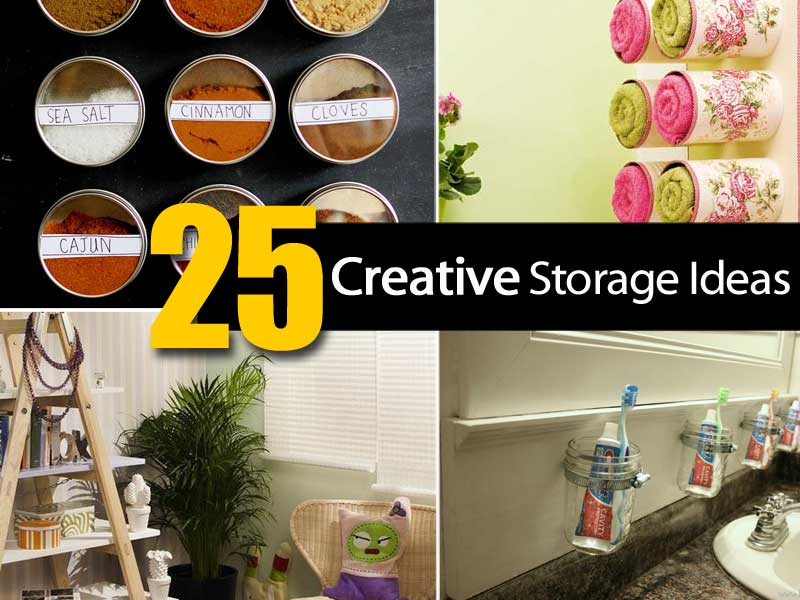 25 creative storage ideas - ohsimply