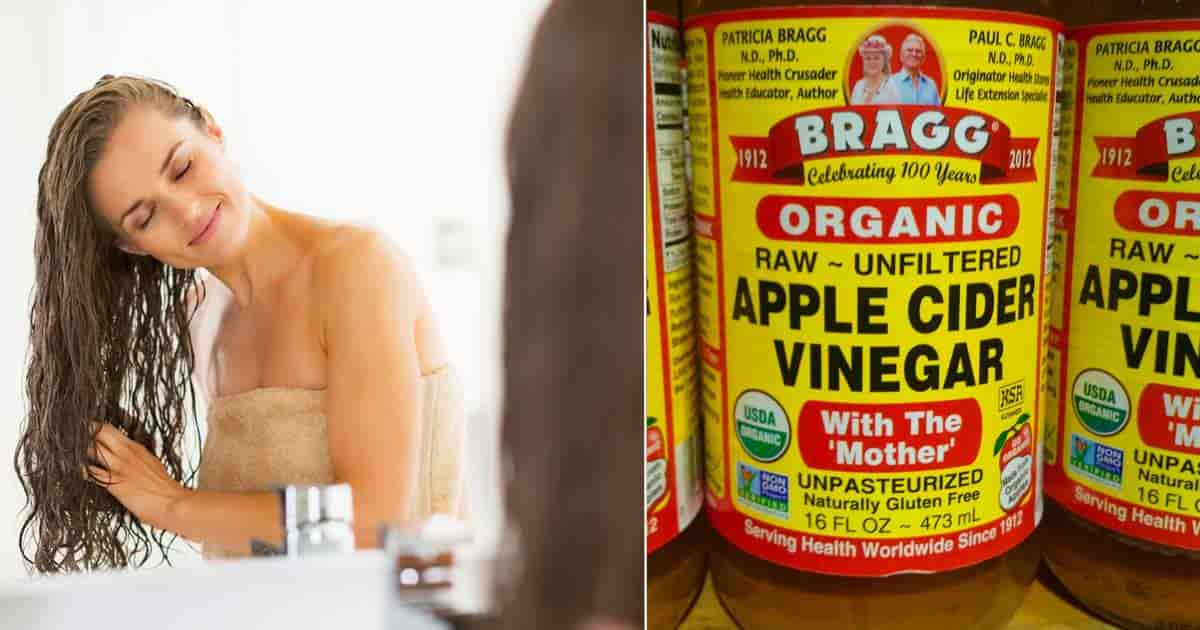 apple cider vinegar for hair - young women rinsing hair
